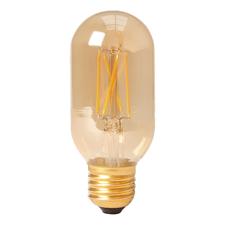 TUBULAR LAMP E27 GOLD FINISH