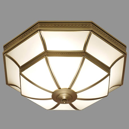 Lighting pendant Art Deco Flush fitting.