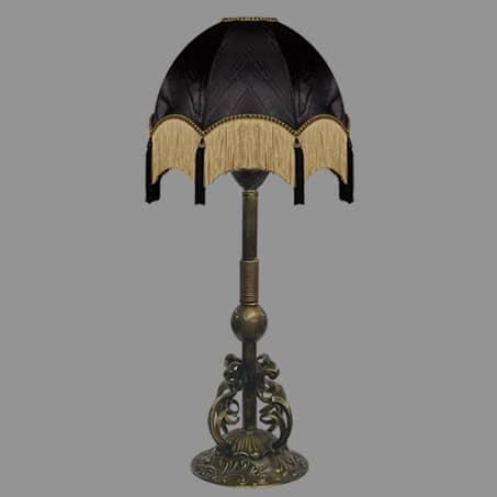 Column Antique Light with Black Tassel shades