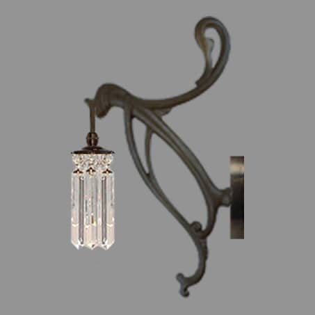 Crystal Art Nuveau Wall Light