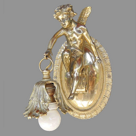 Wall Light Art Nouveau Cherub Left Hand Model
