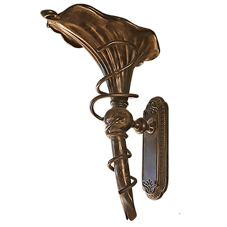 Art Nouveau Antique Brass Finish wall light