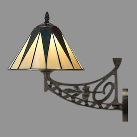 Art Nouveau Leaded wall light