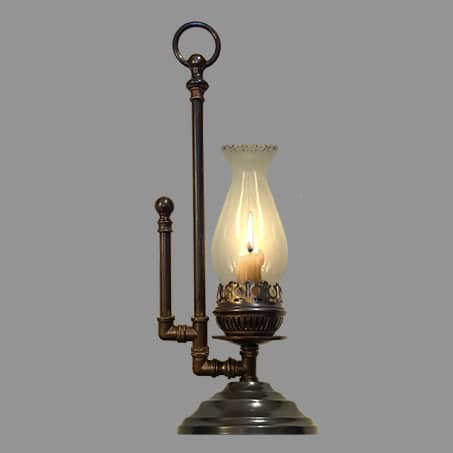 Candle Hand Held Table Lamp Antique