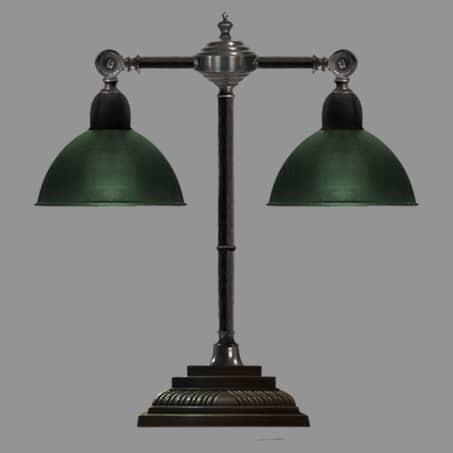 Desk Lamp Double Antique finish Swivel Arm