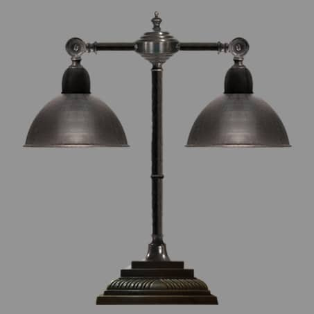 Double Desk Lamp Antique with Swivel Arm