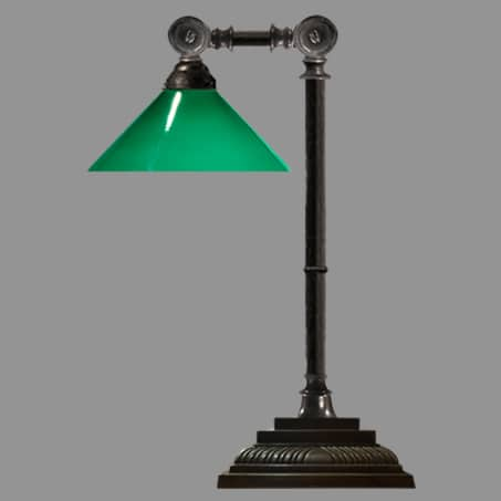 Desk Lamp with Green Cone Shade
