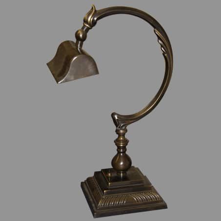 Desk Lamp Victorian Antique solid brass.