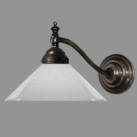 wall light opal glass cone