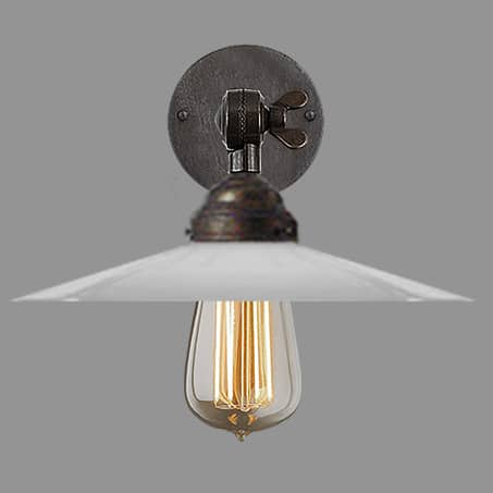 Decorative Industrial Wall Light Antique Round Wall Plate
