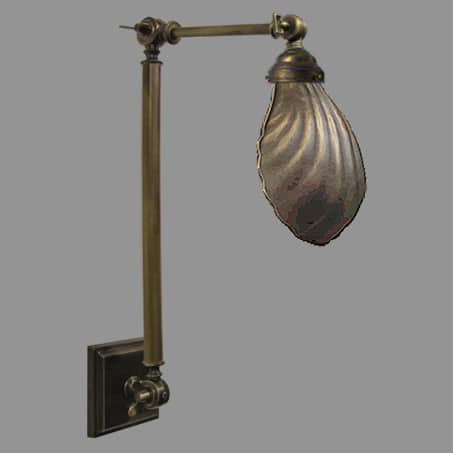 Industrial Swivel Shell Light Antique.