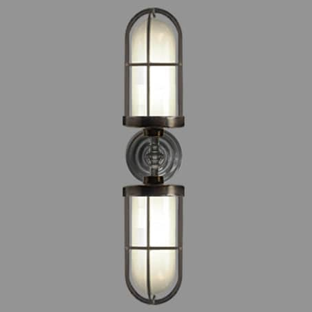 Double Cage Wall Light