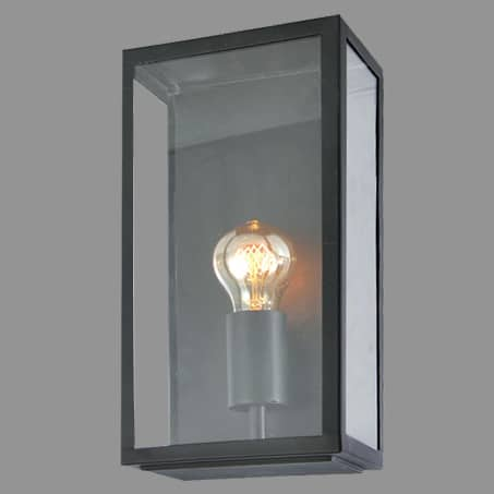 Wall Light Oblong Box Black