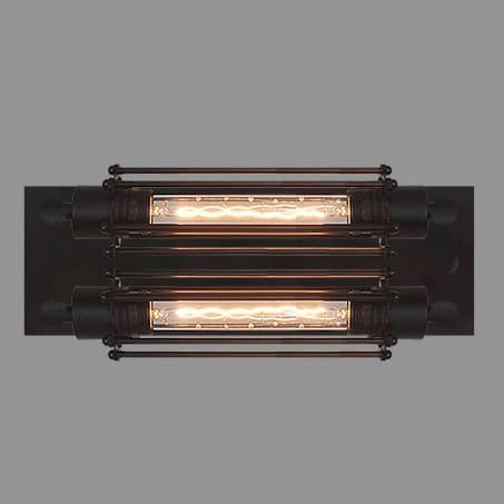 Horizontal Wall Light with Long LED Lamps