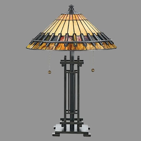 Table Lamp Leaded shade 120