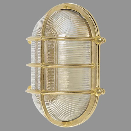 BRASS OBLONG BULKHEAD IP64 WALL LIGHT