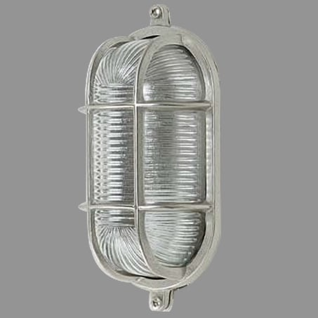 Solid Brass Oval Bulkhead wall light Nickel Finish IP64