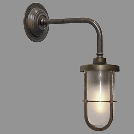 EXTERIOR CAGED WALL LIGHT ANTIQUE