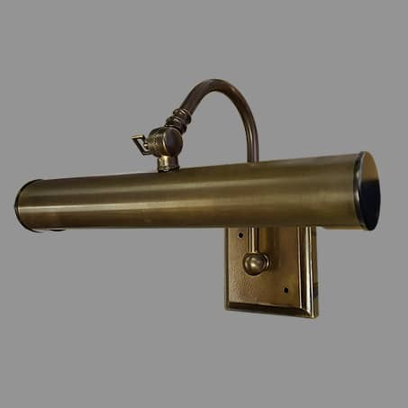 Picture Light Antique finish 32cm long Solid Brass