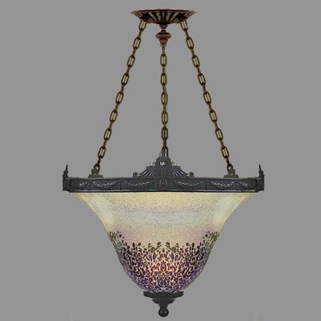 The is a Beautiful designed pendant with a Unique Glass shade