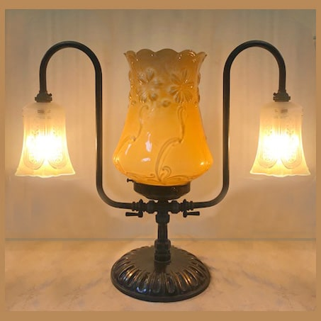 3 Light Victorian Lamp