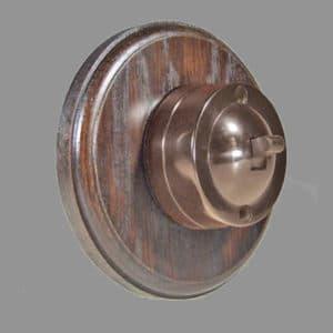 Bakelite 1 bank switch dark Round oak pattress