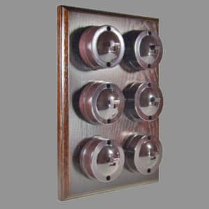 Bakelite 6 bank switch dark oak pattress