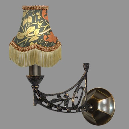 Wall Light Single Floral Shades Tassels
