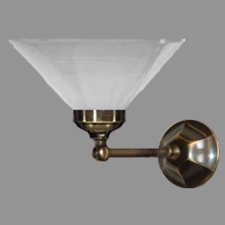 Victorian single wall light with opal conical glass shade