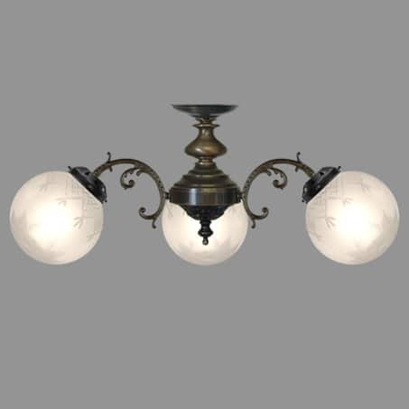 Lighting Pendant Antique Cut glass Globes