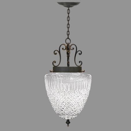 Victorian Single Lighting Pendant Glass Acorn