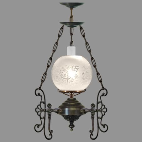 Pendant Light Etched Globe