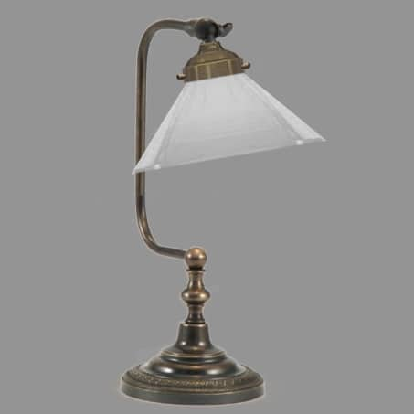 Desk Lamp with white opal cone shade