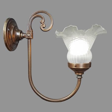Victorian wall light small frill glass.