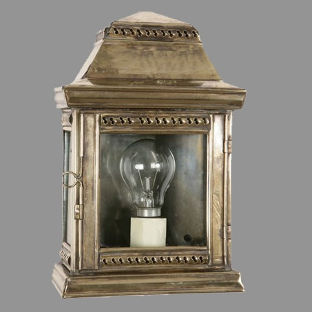Georgian Brass Candle Lantern Antique finish shown available in others