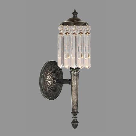 Single Crystal Wall Light with Lonzenge crystal drops