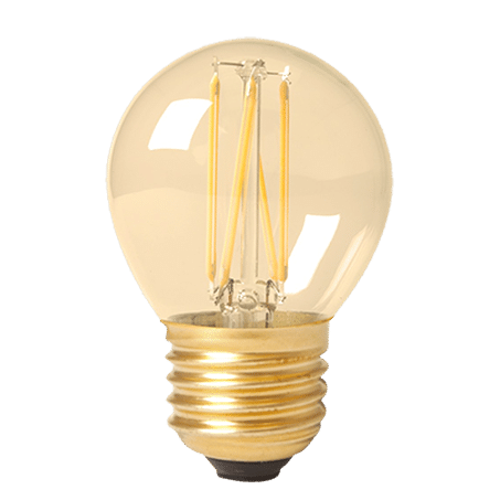 Golfball E27 Cap Led Lamp Gold Finish